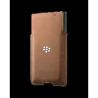 Оригинальный Кожаный мешок с отделением для карты (нат. кожа) для Blackberry Priv Бежевый
