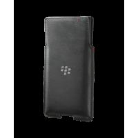 Оригинальный Кожаный мешок с отделением для карты (нат. кожа) для Blackberry Priv Черный