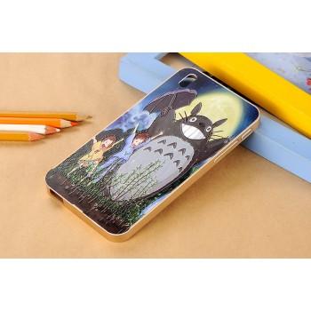Двухкомпонентный чехол с металлическим бампером и поликарбонатной накладкой с принтом для HTC Desire 816