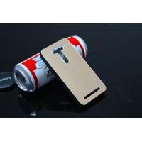 Пластиковый чехол с металлическим покрытием для ASUS Zenfone 2 Laser 5 ZE500KL Бежевый
