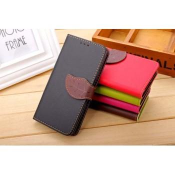 Текстурный чехол портмоне подставка на силиконовой основе с дизайнерской застежкой для Xiaomi RedMi 2