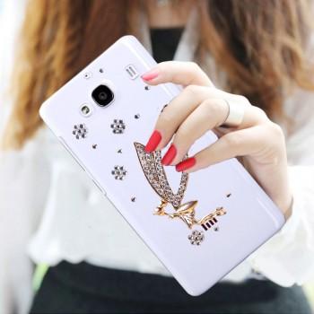 Дизайнерский пластиковый полупрозрачный чехол с аппликацией ручной работы для Xiaomi RedMi 2