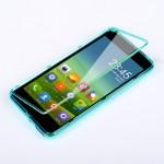 Силиконовый полупрозрачный чехол горизонтальная книжка с пластиковой транспарентной крышкой для Xiaomi RedMi 2