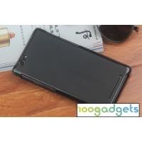 Силиконовый матовый полупрозрачный чехол для Philips S616 Черный