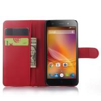 Чехол портмоне подставка с защелкой для ZTE Blade L4 Красный