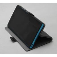 Кожаный чехол горизонтальная кинжка (нат. кожа) для Philips S616 Черный