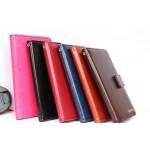 Глянцевый чехол портмоне подставка на силиконовой основе с отделением для карт для Sony Xperia E