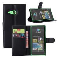Чехол портмоне подставка с защелкой для Nokia Lumia 730/735 Черный