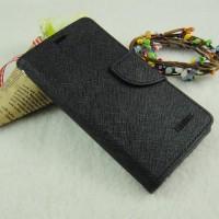 Текстурный чехол портмоне на силиконовой основе с дизайнерской застежкой для Samsung Galaxy A3 Черный