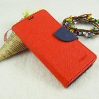 Текстурный чехол портмоне на силиконовой основе с дизайнерской застежкой для Samsung Galaxy A3 Красный