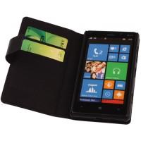 Чехол портмоне подставка на пластиковой основе с отделением для карт для Nokia Lumia 820