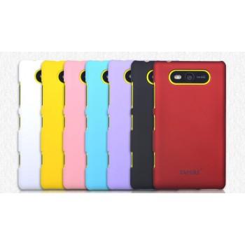 Пластиковый матовый непрозрачный чехол для Nokia Lumia 820
