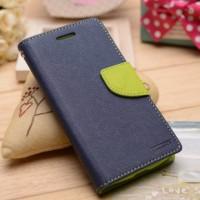 Текстурный чехол портмоне подставка на силиконовой основе с дизайнерской застежкой для Sony Xperia E4g Синий