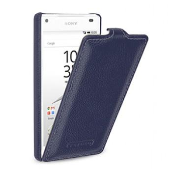 Кожаный чехол вертикальная книжка (нат. кожа) для Sony Xperia Z5 Compact