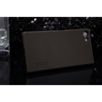 Пластиковый матовый нескользящий премиум чехол для Sony Xperia Z5 Compact