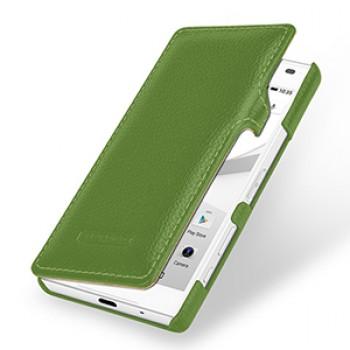 Кожаный чехол горизонтальная книжка (нат. кожа) для Sony Xperia Z5 Compact