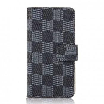 Чехол портмоне подставка с защелкой с принтом шахматы для Sony Xperia Z5 Compact