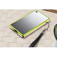 Металлический двухцветный бампер для Sony Xperia Z5 Compact Зеленый