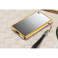 Металлический двухцветный бампер для Sony Xperia Z5 Compact Желтый