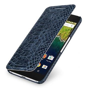 Эксклюзивный кожаный чехол горизонтальная книжка (нат. кожа рептилии) ручной работы для Google Huawei Nexus 6P