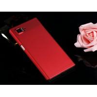 Пластиковый матовый непрозрачный чехол для Lenovo Vibe Z2 Pro K920 Красный