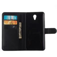 Чехол портмоне подставка на пластиковой основе на магнитной защелке для ZUK Z1 Черный
