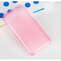 Силиконовый полупрозрачный чехол для ASUS Zenfone 4 (A400CG) Розовый