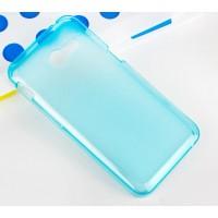 Силиконовый полупрозрачный чехол для ASUS Zenfone 4 (A400CG) Голубой