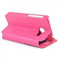 Чехол флип подставка с окном вызова для ASUS Zenfone 4 (A400CG) Розовый