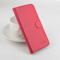 Чехол портмоне подставка на силиконовой основе с защелкой для ASUS ZenFone 2 Laser 6 Красный