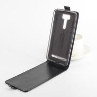 Чехол вертикальная книжка на силиконовой основе с магнитной застежкой для ASUS ZenFone 2 Laser 6 Черный