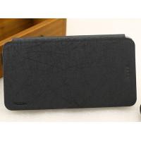 Текстурный чехол флип подставка на присоске и пластиковой основе для ASUS ZenFone 2 Laser 6 Черный