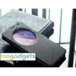 Чехол флип подставка текстурный с круглым окном вызова для ASUS ZenFone 2 Laser 6