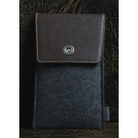 Дизайнерский мешок войлок/кожа с отделением для карт для Samsung Galaxy A3 Коричневый