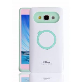Силиконовый непрозрачный чехол с подставкой для Samsung Galaxy A3