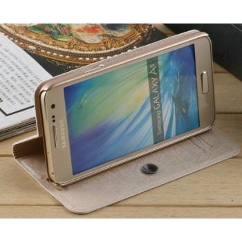 Текстурный чехол флип подставка на присоске для Samsung Galaxy A3