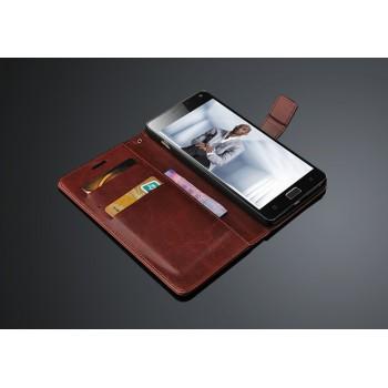 Глянцевый чехол портмоне подставка с защелкой для Lenovo Vibe P1