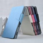 Текстурный чехол флип подставка на пластиковой основе с отделением для карт для Sony Xperia C