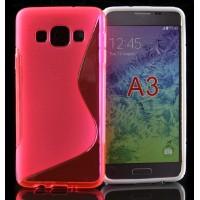 Силиконовый S чехол для Samsung Galaxy A3 Розовый