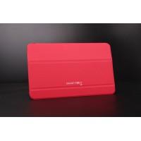 Сегментарный чехол книжка подставка на поликарбонатной непрозрачной основе для Samsung Galaxy Tab E 9.6 Красный