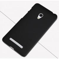 Премиум матовый пластиковый чехол для ASUS Zenfone 5 Черный