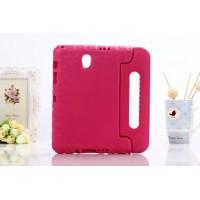 Ударостойкий детский силиконовый гиппоалергенный чехол с подставкой для Samsung Galaxy Tab S 8.4 Розовый