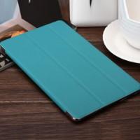 Сегментарный чехол книжка подставка текстура Линии на поликарбонатной транспарентный основе для Samsung Galaxy Tab S 8.4 Голубой