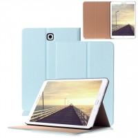 Чехол книжка подставка на поликарбонатной основе для Samsung Galaxy Tab S2 8.0 Голубой