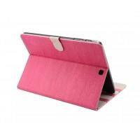 Чехол книжка подставка текстура Дерево на поликарбонатной основе с магнитной защелкой для Samsung Galaxy Tab S2 8.0 Розовый