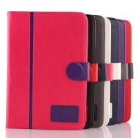 Чехол книжка подставка на силиконовой основе с отделениями для карт и магнитной защелке для Samsung Galaxy Tab S2 8.0