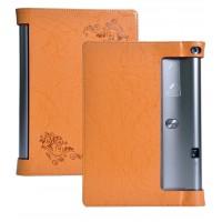 Дизайнерский чехол подставка с рамочной защитой и рельефным принтом для Lenovo Yoga Tab 3 Pro