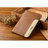 Дизайнерский кожаный прошитый чехол подставка с рамочной защитой экрана и держателем для кисти для Ipad Pro Бежевый