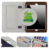 Дизайнерский кожаный прошитый чехол подставка с рамочной защитой экрана и держателем для кисти для Ipad Pro Коричневый
