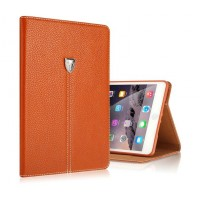 Кожаный чехол книжка подставка (нат. Кожа премиум) на силиконовой основе с отделениями для карт для Samsung Galaxy Tab S2 8.0